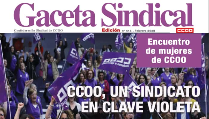 Gaceta sindical en clave violeta