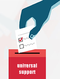 eleccións universal support