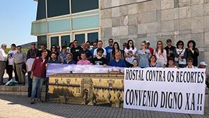 concentración convenio Hostal Reis Católicos