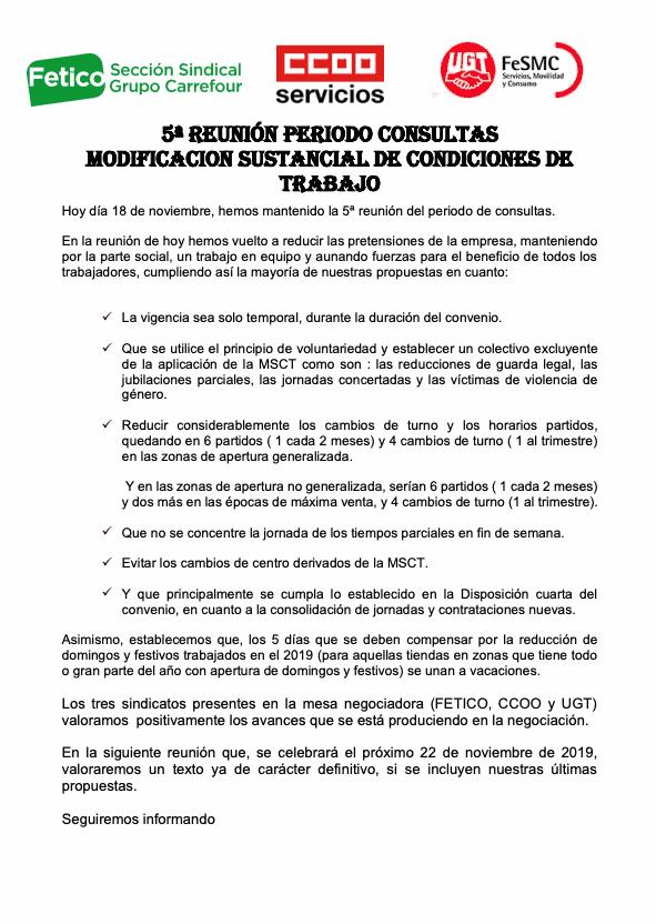 MODIFICACION SUSTANCIAL DE CONDICIONES DE TRABAJO