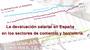 La devaluación salarial en España en los sectores de comercio y hostelería