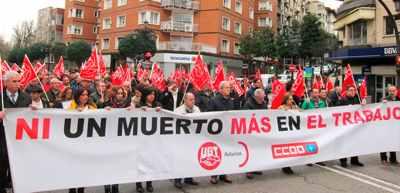 manifestación contra siniestralidad laboral