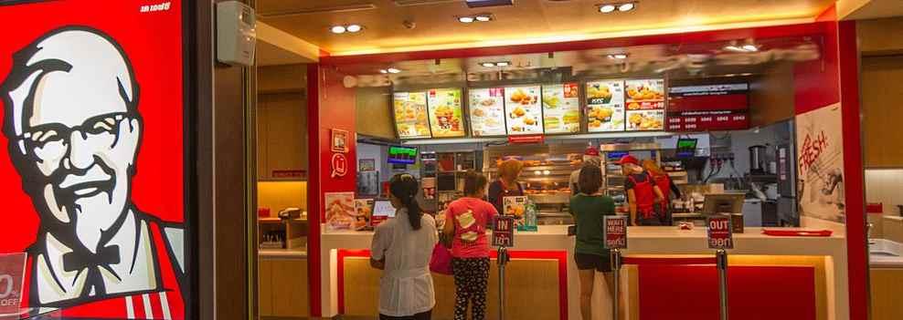Restaurante del KFC. Firmado II plan de igualdad