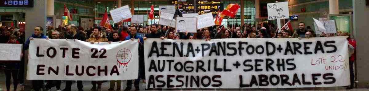 Huelga en Aeropuerto Barcelona. Hostelería