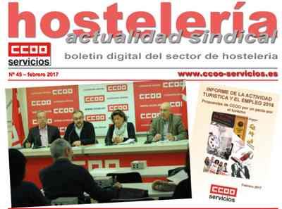 Boletín Hostelería Sindical CCOO número 45