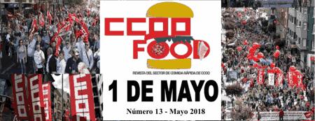 Revista CCOO Food. Comida rápìda.