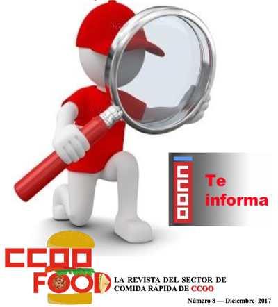 CCOO Food, la revista de CCOO del sector de la comida rápida