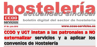Boletín Hostelería CCOO, núm 36