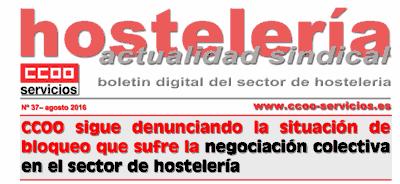Boletín Hostelería Sindical CCOO número 37