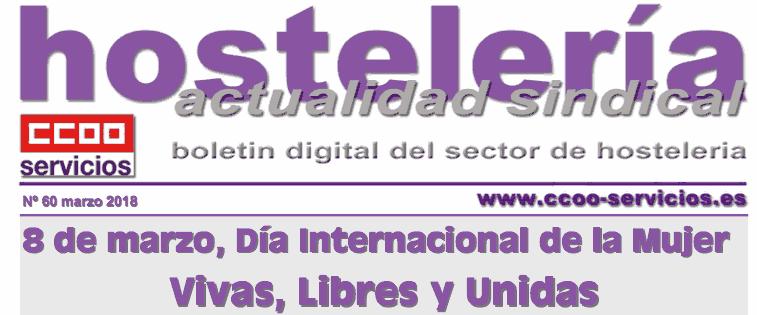 Boletín Sindical Hostelería CCOO, número 60. 8 de marzo