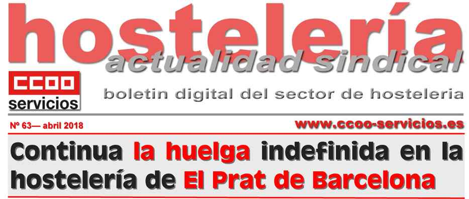 Boletin hosteler?a sindical CCOO