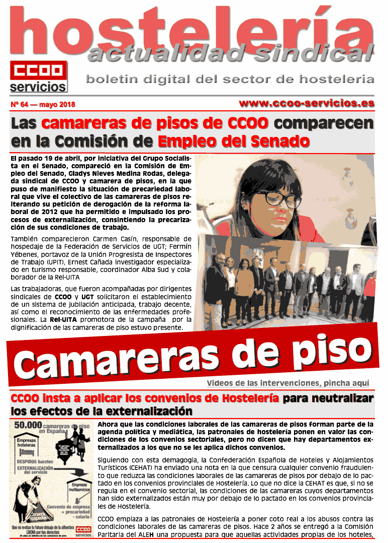 hosteeria sindical ccoo
