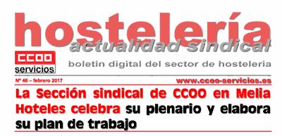Boletín Hostelería Sindical CCOO núm 46