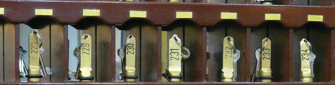 llaves de habitacion de hotel. Sector hostelería