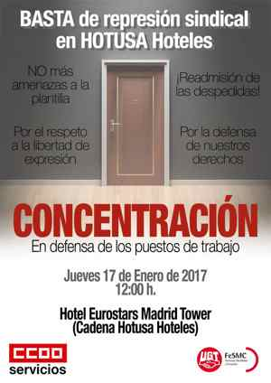 concetración hotusa Madrid