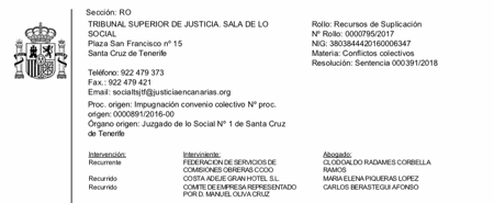 Sentencia discriminación por género hostelería Tenerife