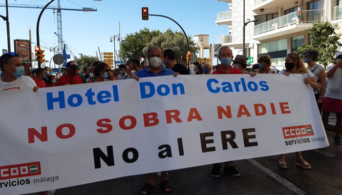 protestas ERE Hotel don Carlos