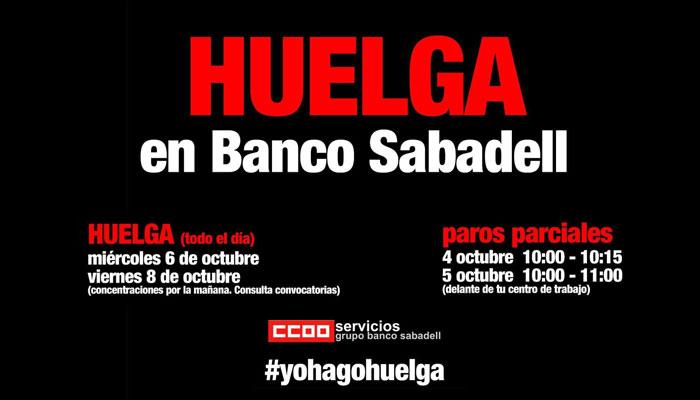 Paros parciales y huelga contra el ERE en Banco Sabadell