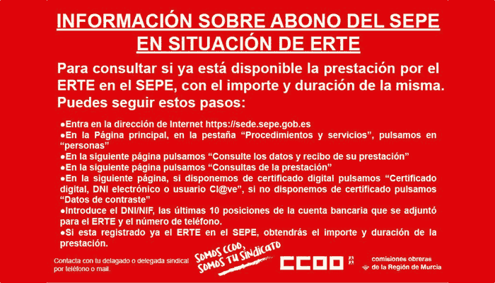 ERTE informacion COVID