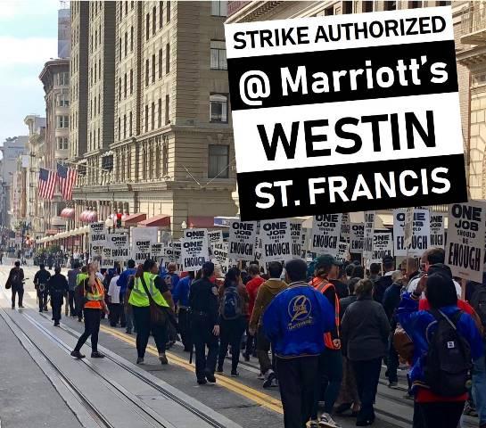 Huelga Marriot Estados Unidos