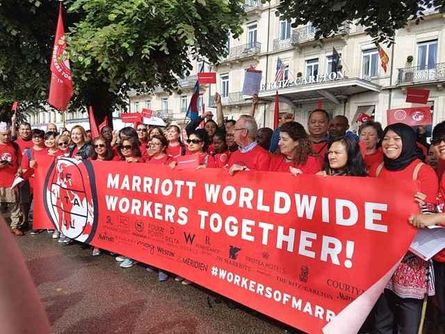 trabajadores de Marriot