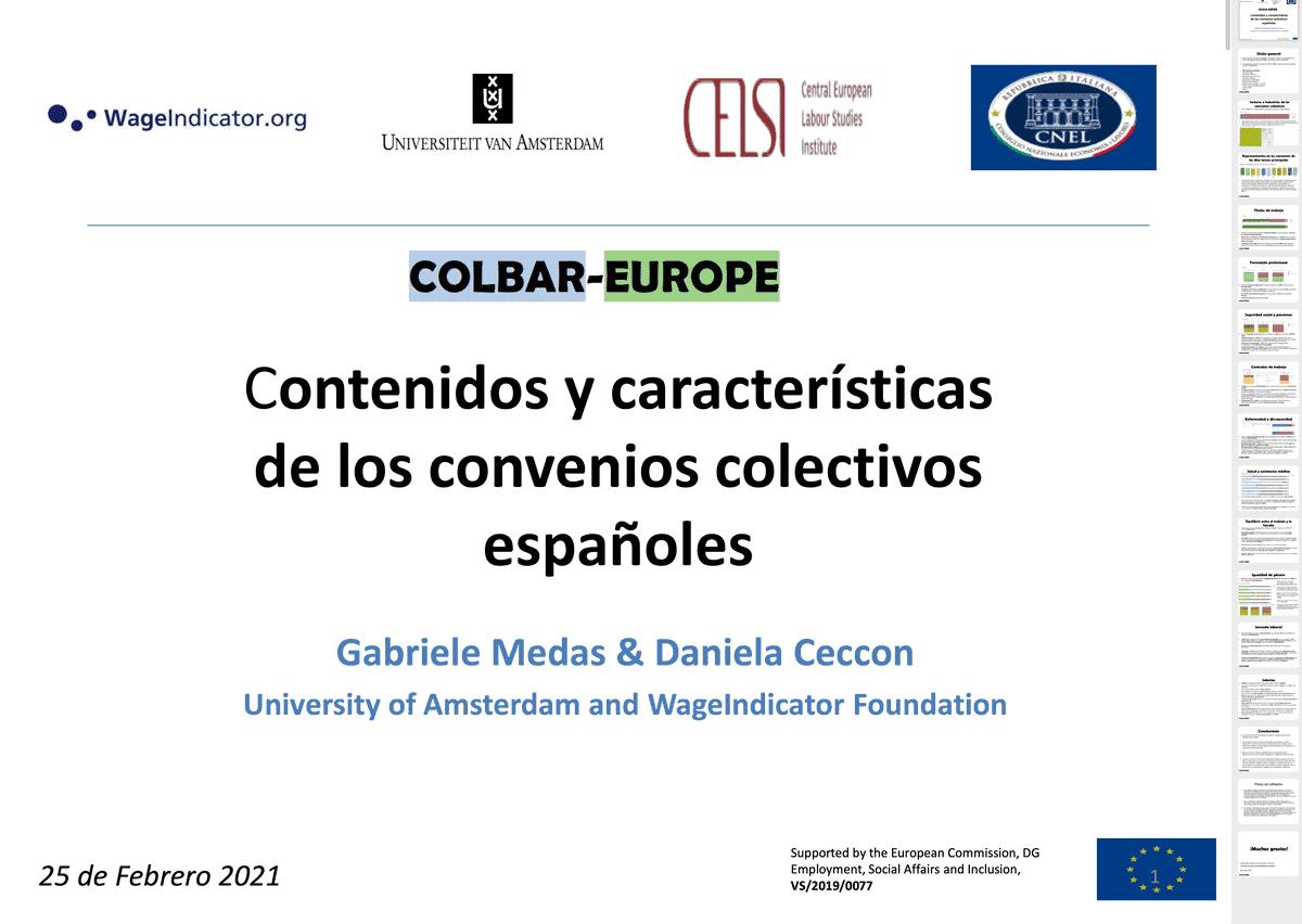 Presentacion convenio colectivos españa