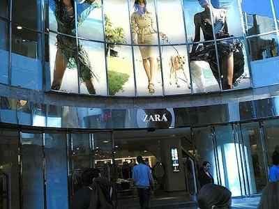 Zara Bruselas. comité Europeo Inditex