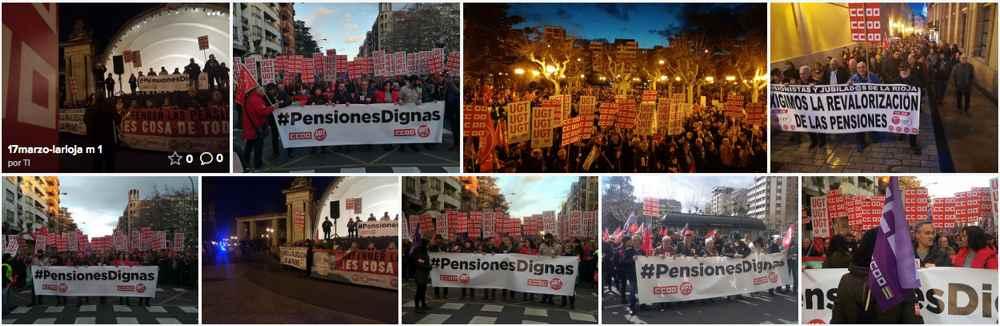 Manifestacion pensionistas La Rioja