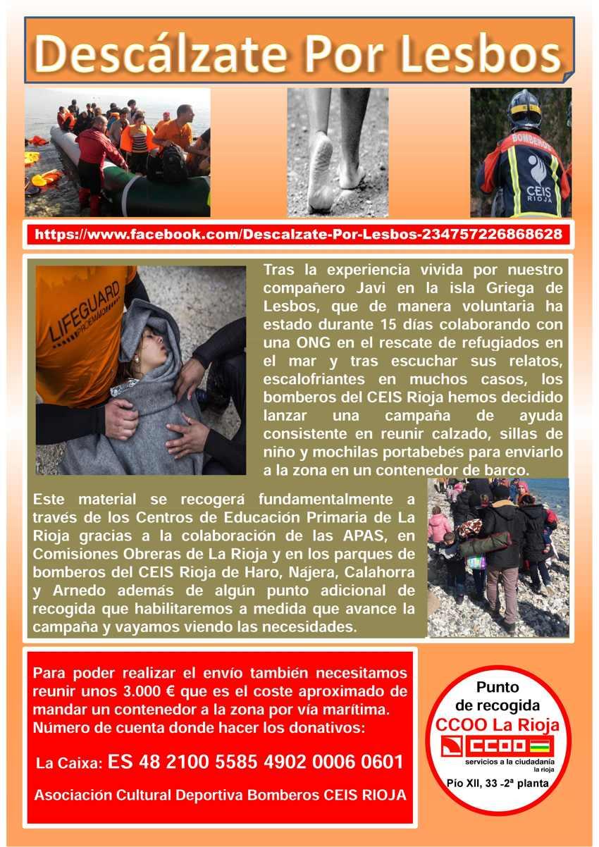 Refugiados campaña descálzate por lesos