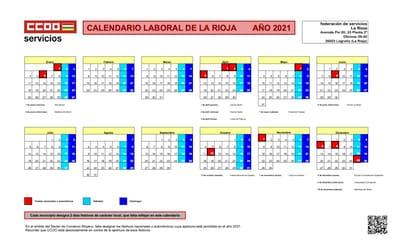 Calendario laboral 2021 La Rioja