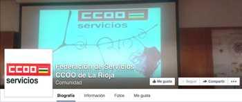 Facebook ccoo servicios La Rioja