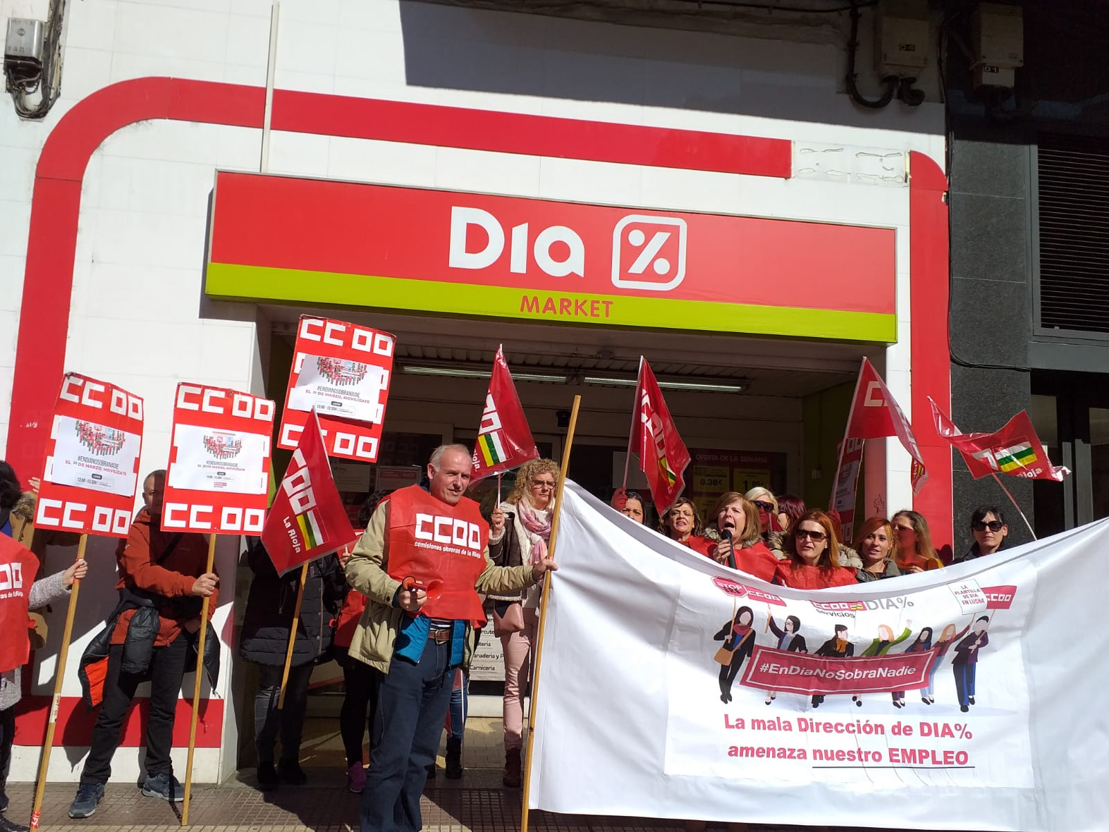 Supermercados Dia. Huelga en La Rioja