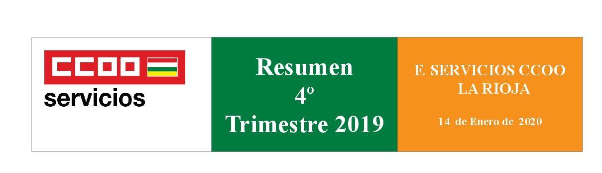 REsumen Servicios CCOO La Rioja 4 trimestre 2019