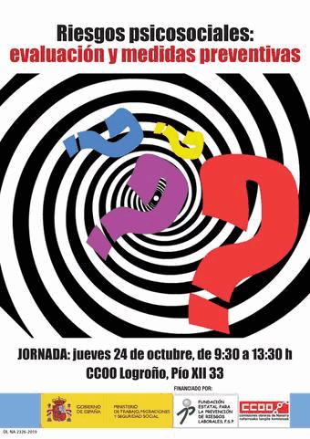 Riesgos psicosociales en CCOO La Rioja