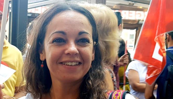 Laura Fatima Castelló Secretaria de Mujeres, Igualdad y Diversidad en la Federación Estatal de Servicios de CCOO