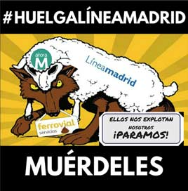 Huelga Linea Madrid