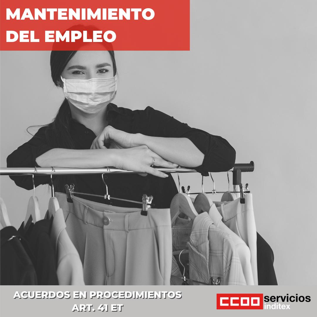 acuerdo mantenimiento empleo Inditex