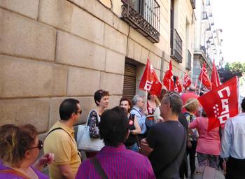 Ccoo se moviliza por el convenio de ahorro y contra el for Bankia horario oficina
