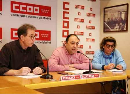 Rueda de prensa CCOO Servicios Madrid, Restauración Colectiva