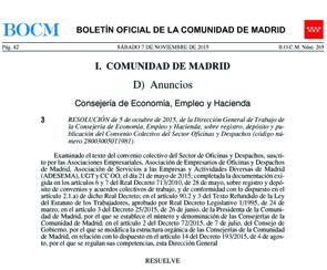Conv.Oficinas .Y Despachos .2015 Madrid
