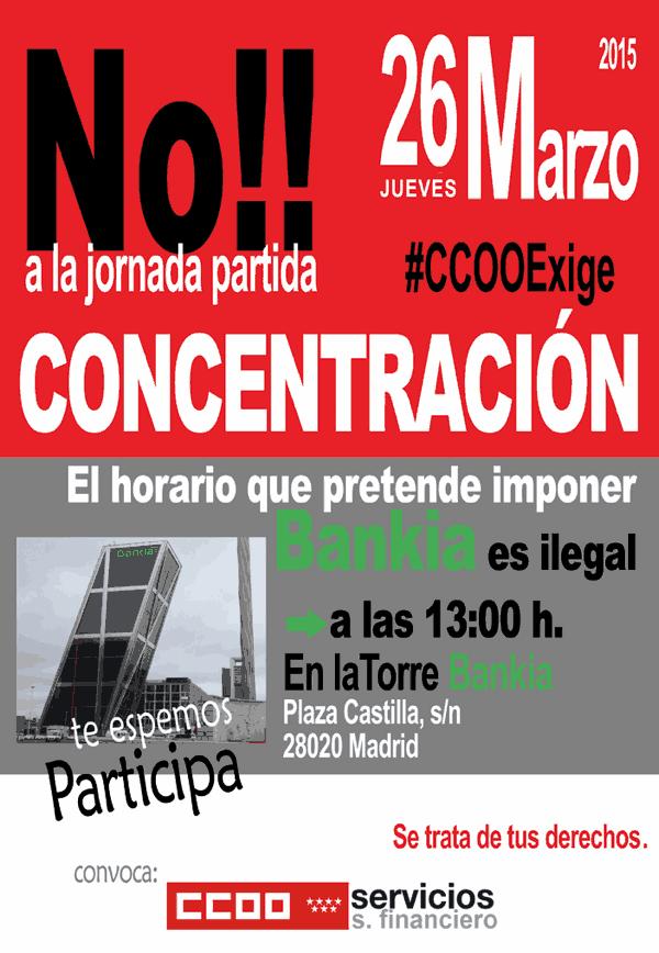 Concentracion Bankia contra jornada partida