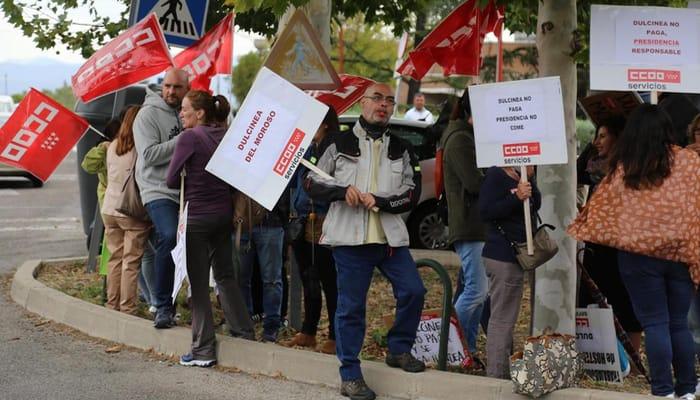 protesta servicios restauración Moncloa