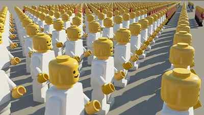multitud, trabajadores
