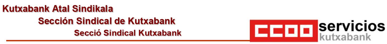 Sección Sindical CCOO Kutxabank