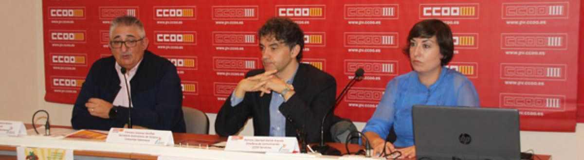 CCOO PV presenta una campaña de lucha contra la precariedad en el sector turístico