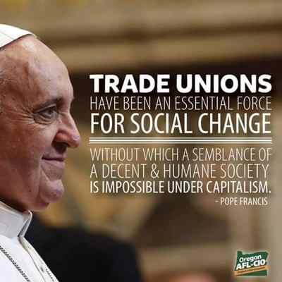 El papa y los sindicatos