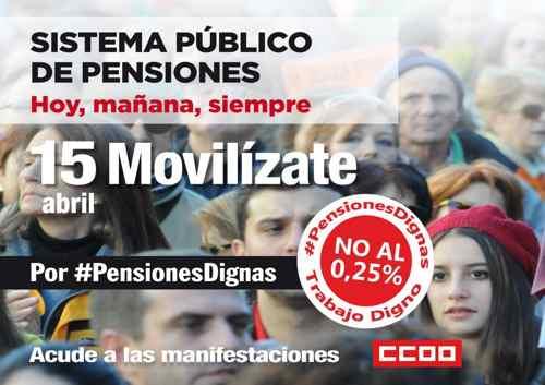 Manifestación pensiones dignas