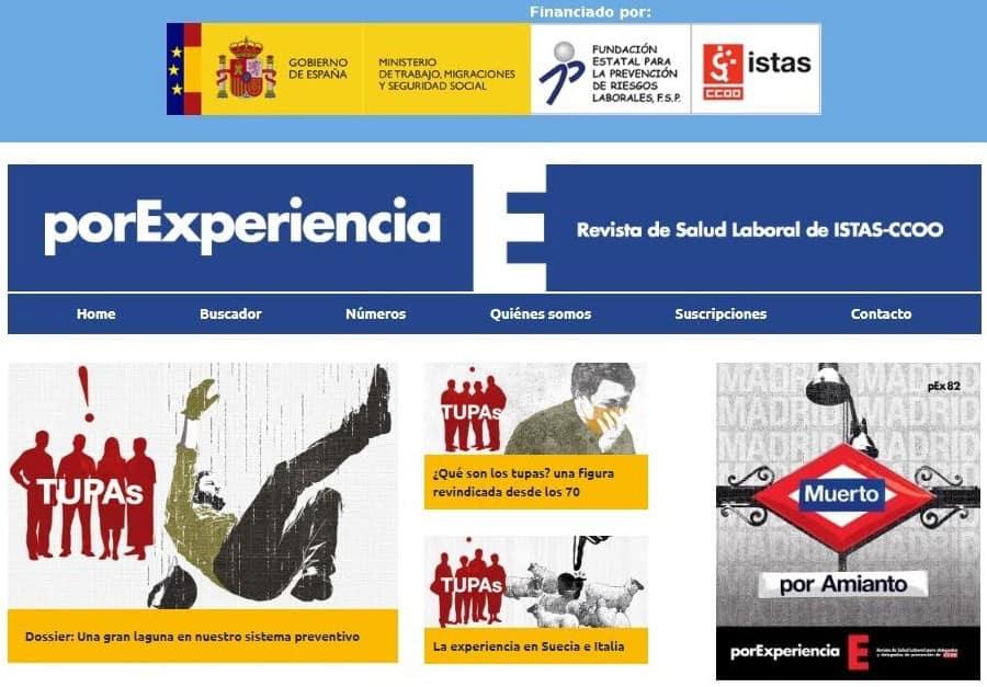 REvista por experiencia, Salud Laboral CCOO