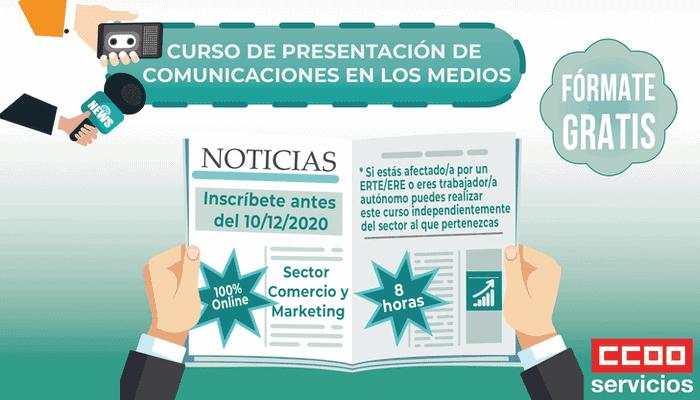 Curso gratuito Presentación de Comunicaciones en los Medios