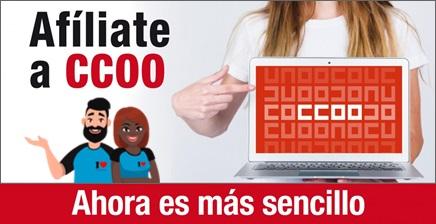 Afíliate a CCOO